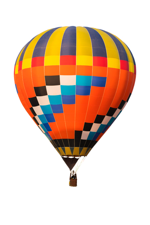 Hot air ballon for designer on white background and clipping part for easy to use, red, green, blue, yellow Stock Photo