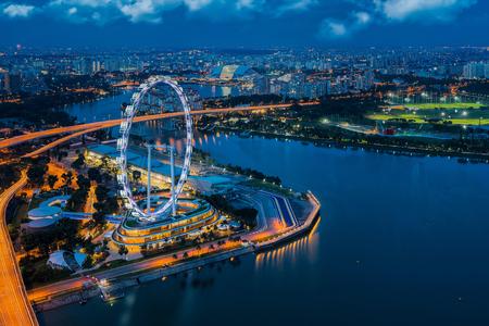 Stad scape van Singapore stad, Singapore