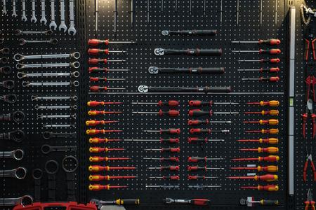 tool in maintenance shop, prpair tool and equipment in machine shop Standard-Bild