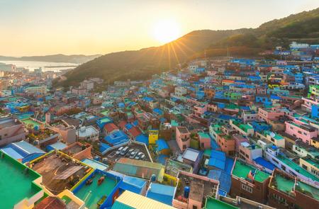 Gamcheon village in Busan city, South Korea Banque d'images