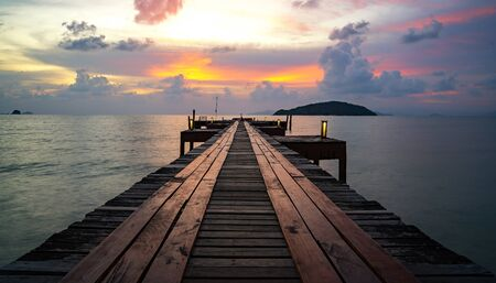 Bridge in resort in Koh Mak , Kood, Trat, Thailand