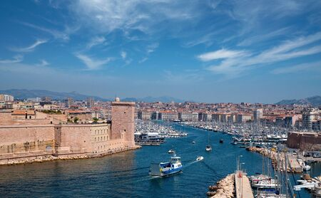 Panorama view of Marseille city in day time, France Stock Photo