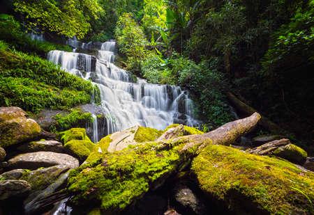 Unseen Man daeng water fall in phuhinrongkla park near Phu thapboek mountain in Thailand