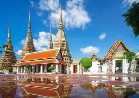 Pho temple in Bangkok city, this image can use for Thailand, grand palace, travel in Bangkok and Asia concept.
