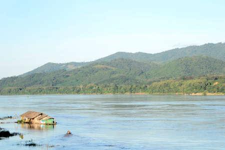 mekong river: On the Mekong river.