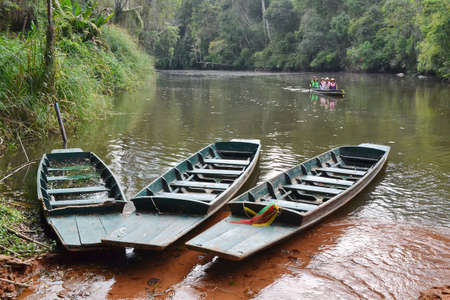 kaeng: Boat rafting at Kaeng Bang Rachan,Phetchabun District,Thailand.