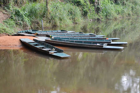 kaeng: Boat for rafting at Kaeng Bang Rachan,Phetchabun District,Thailand.