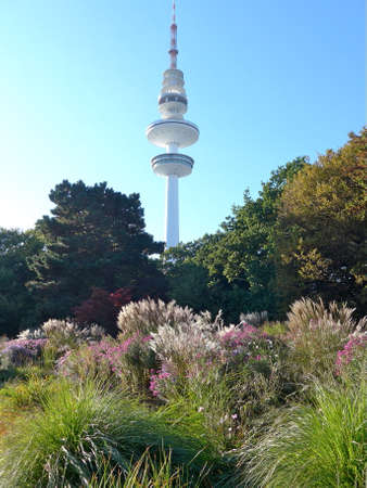 A big TV tower in the city of Hamburg Stock Photo