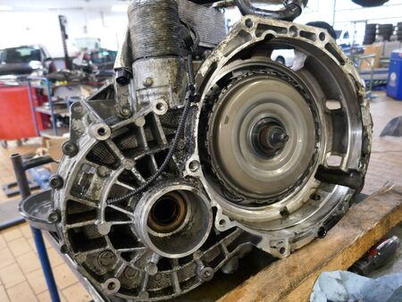 rusty car: Part of an car engine