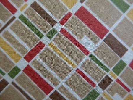 Fabric pattern in nostalgic retro style Stock Photo