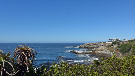 Hermanus, South Africa, Garden Route. Walk the Cliff Path to Grotto Beach and enjoy the view.