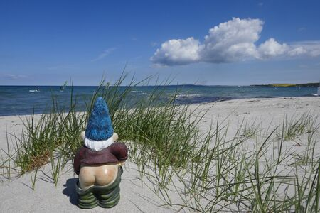 Holidays by the sea ... Dunes, White Sandy beach on the Baltic Sea, on Sehlendorf beach in Schleswig-Holstein, Germany, Europe