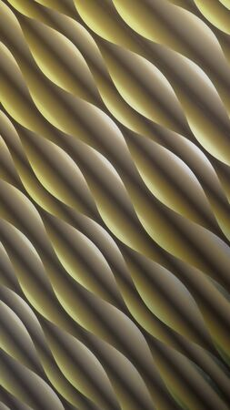 Wave pattern, spiral pattern, abstract, diagonal. Modern futuristic background, olive-green, with light and shadow effect Zdjęcie Seryjne
