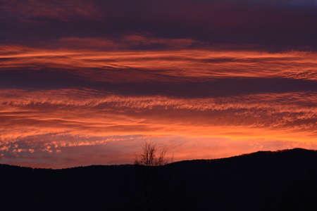 sunup: orange sunrise