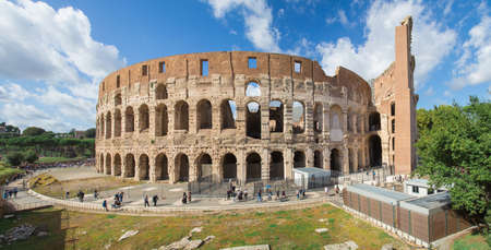 Rome, Italy. 10/16/2019. The Colosseum. A historical place. View from the observation deck. Panorama