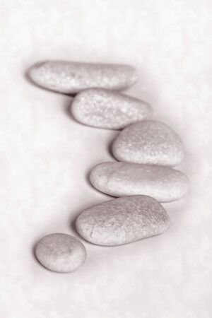 Stepping white stones with dark background Stock Photo - 4337727
