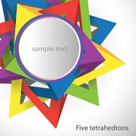 five tetrahedrons Stock Vector - 9842061