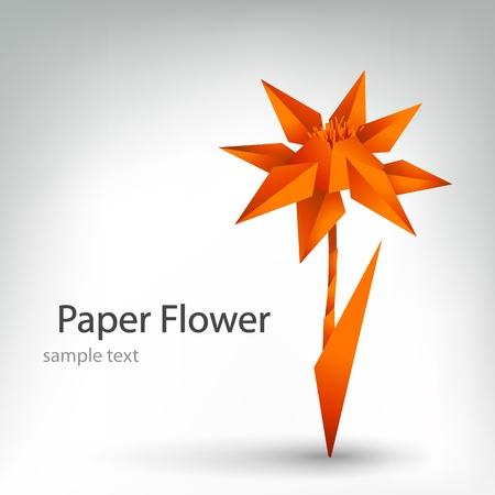 Origami Blume Illustration