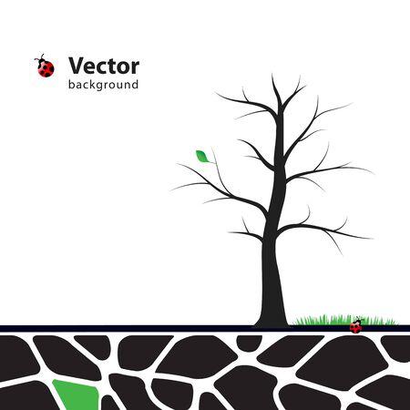 Abbildung Baum mit grünen Blätter. Natur Symbol Grafik-Design.
