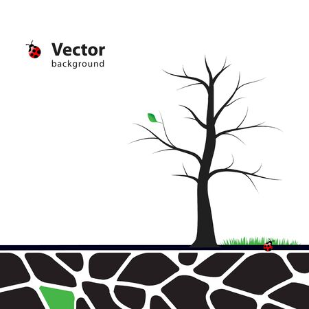 single color image: Tree illustration with green leafs. Nature symbol graphic design.