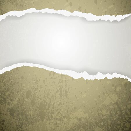 obsolete: ripped paper - abstract background Illustration