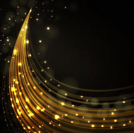 金: ゴールドのスタイリッシュなファンタジー背景
