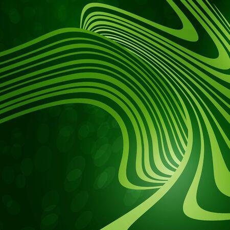 Fondo Verde Con Las Ondas De Luz Ilustraciones Vectoriales, Clip ...