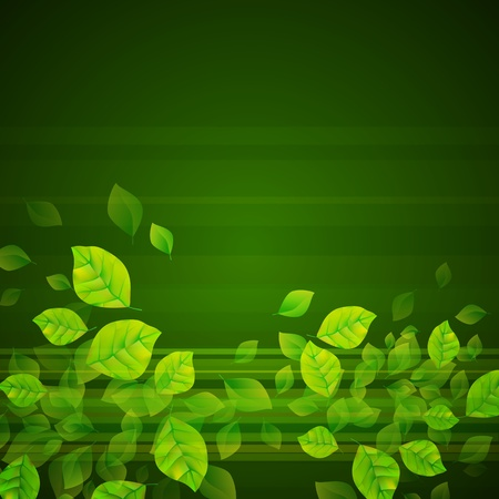 Fresh Green Background Illustration