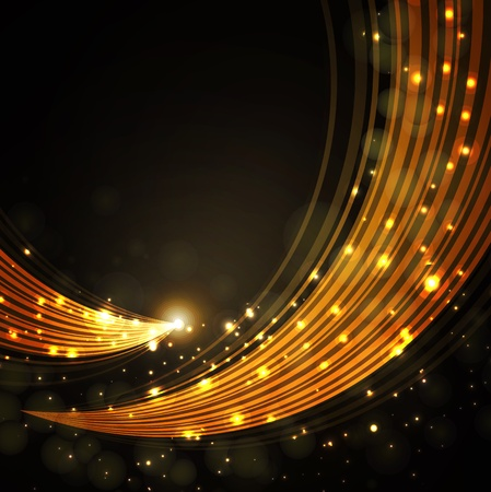 gold stylish fantasy background  Vector