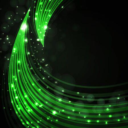 green stylish fantasy background  Vector