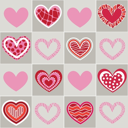 Seamless valentine pattern Stock Vector - 10495719