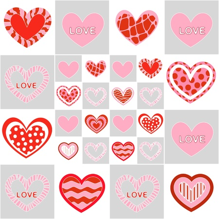 Seamless valentine pattern Stock Vector - 10495751