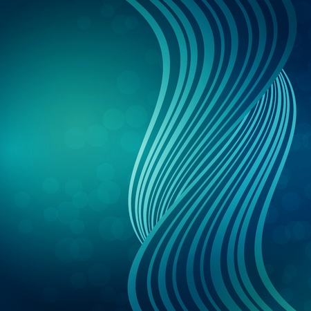 blue background with waves of light Vector