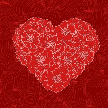 Seamless valentine pattern Stock Vector - 10495869