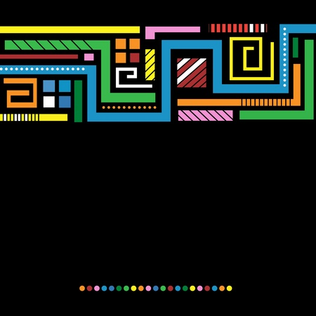 dark background with bright colored lines Vector