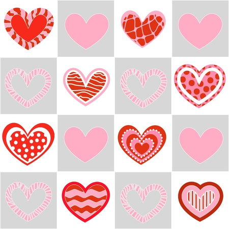 Seamless valentine pattern Stock Vector - 10495718