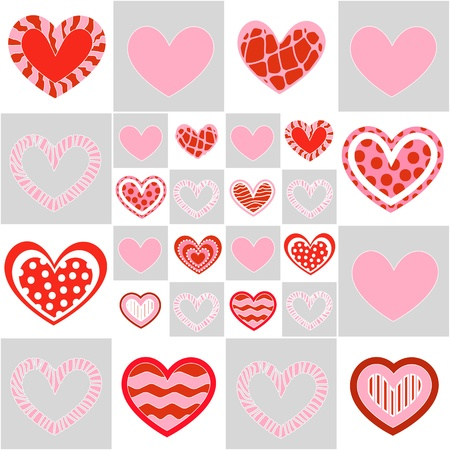 Seamless valentine pattern Stock Vector - 10495724