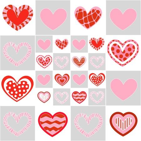 Seamless valentine pattern Stock Vector - 10495724