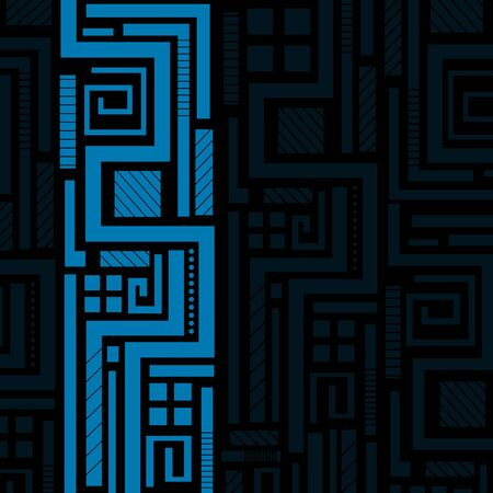 tech: Blue abstract background with place for your text Illustration