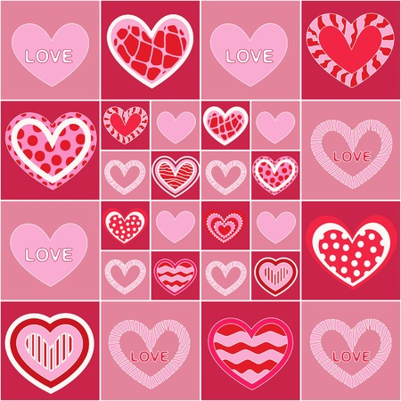 Seamless valentine pattern Stock Vector - 10495754