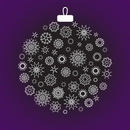 Christmas decoration made from snowflakes Vector