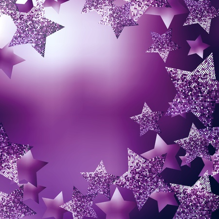 purple stars: Christmas stars background