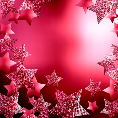 Christmas stars background Stock Vector - 10495894