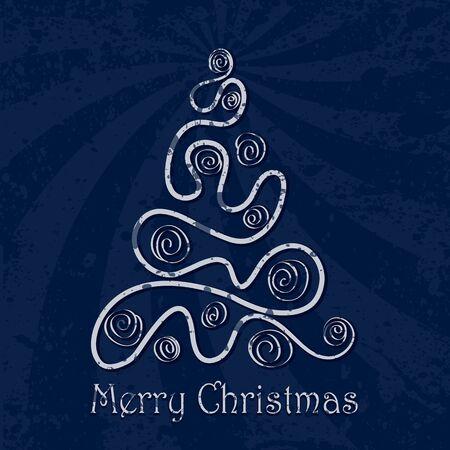 Retro Christmas tree Stock Vector - 10495803