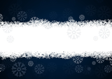 snowflakes background for winter and christmas theme Vector