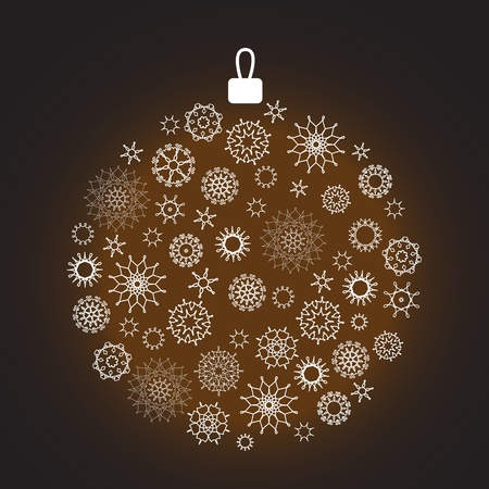 xm: Christmas decoration made from snowflakes Illustration