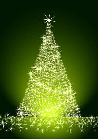 Christmas tree on green background Stock Vector - 10495753