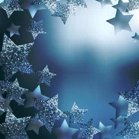 invitacion fiesta: Fondo de estrellas de Navidad