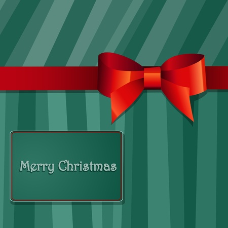 Christmas gift box with  bow Vector
