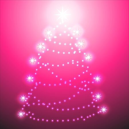 Christmas tree on red background Stock Vector - 10609321